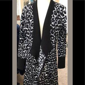 Leopard Print Open front cardigan